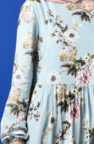 Patterned Dress 8198 A-01 Blue 8198A-01