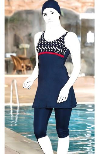 Navy Blue Swimsuit Hijab 4099C-01