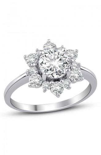 Sky Diamond Çiçek Yüzük sky-2500Beyaz