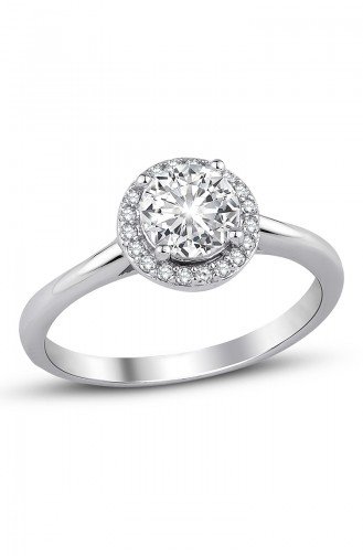 Sky Diamond Solitaire Ring Sky-2558 White 2558