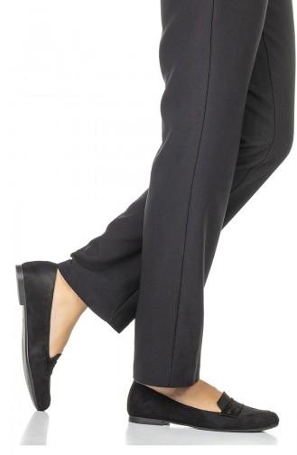 Black Woman Flat Shoe 1710-01