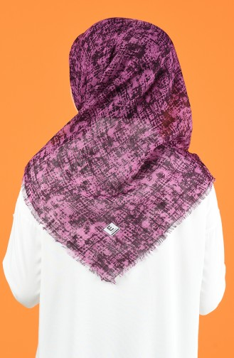 Patterned Flamed Scarf 901599-09 Dry Rose 901599-09