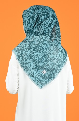 Patterned Flamed Scarf 901599-12 Mint Green 901599-12
