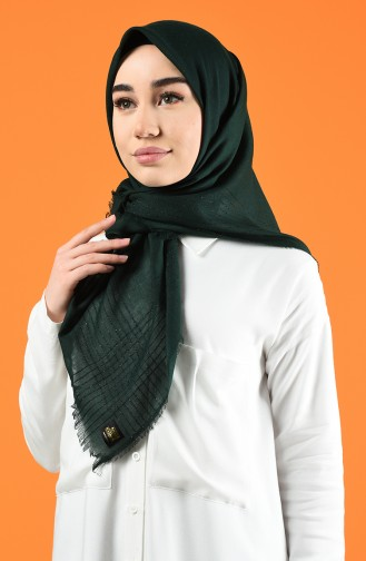 Silvery Cashmere Scarf 901604-07 Emerald Green 901604-07