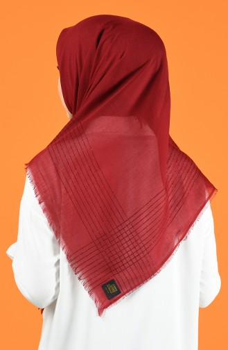 Silvery Cashmere Scarf 901604-14 Claret Red 901604-14