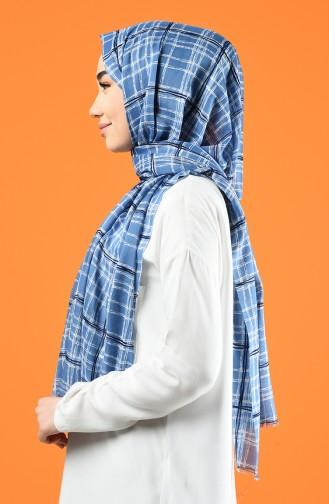 Patterned Cotton Shawl Blue 901605-01