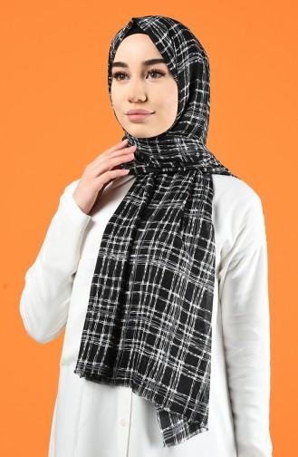 Patterned Cotton Shawl Black 901605-07