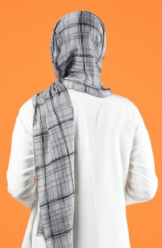 Patterned Cotton Shawl Gray 901605-09