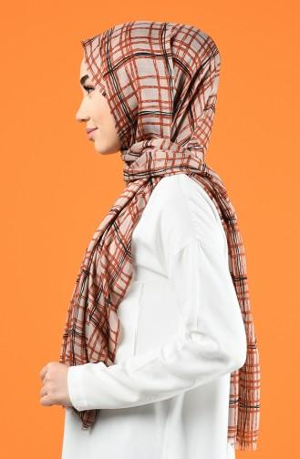 Patterned Cotton Shawl Beige 901605-11