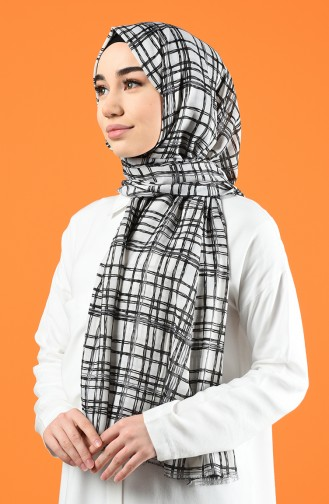 Patterned Cotton Shawl Cream 901605-12