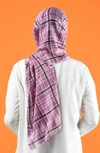 Gemusterter Baumwollschal 901605-13 Violett 901605-13