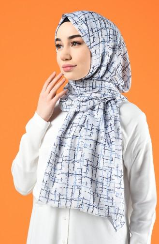 Patterned Cotton Shawl White 901608-04