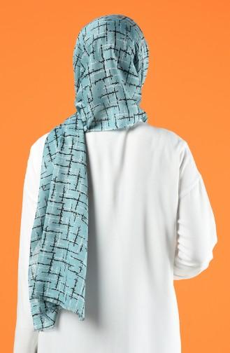 Patterned Cotton Shawl Mint Green 901608-11