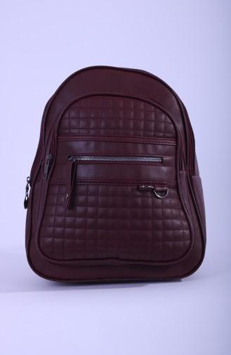 Claret red Back Pack 14-03