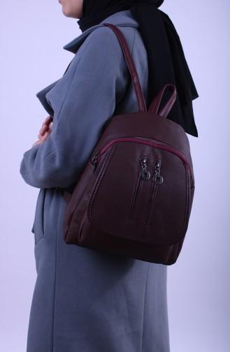 Claret red Back Pack 15-03