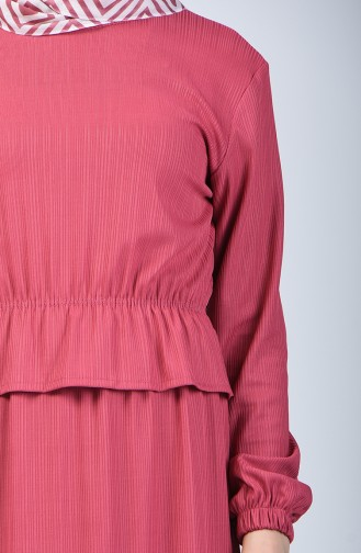 Robe Taille élastique 0215-03 Rose Pâle 0215-03