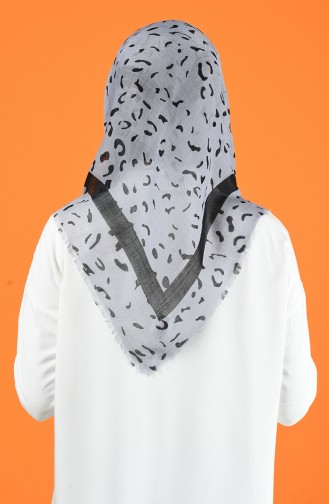 Patterned Flamed Scarf 901597-09 Gray 901597-09