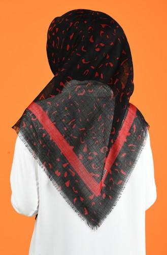 Patterned Flamed Scarf 901597-14 Black Red 901597-14