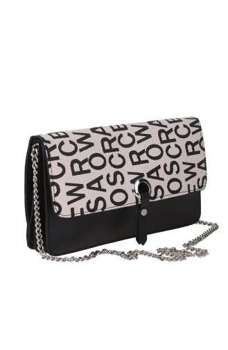 Women´s Cross Shoulder Bag M389-21 Black Cream 389-21