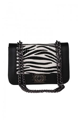 Women´s Cross Shoulder Bag M391-03 Black White 391-03