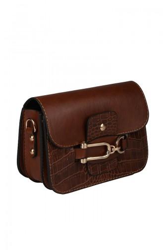 Tobacco Brown Shoulder Bag 393-91