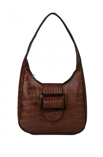 Tobacco Brown Shoulder Bag 395-91