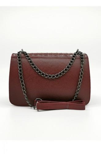 Ladies Shoulder Bag HM4102-17 Claret Red 4102-17