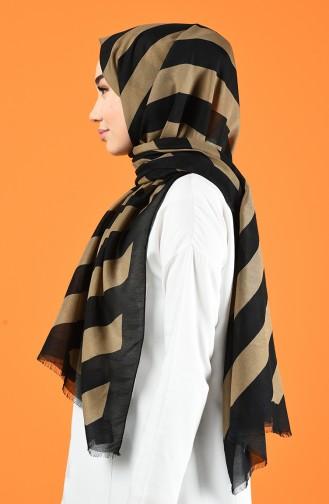 Patterned Cotton Shawl Mink 901613-08