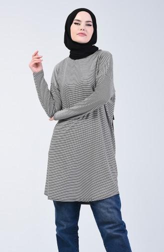 Çzgili Tunik 1286-01 Siyah