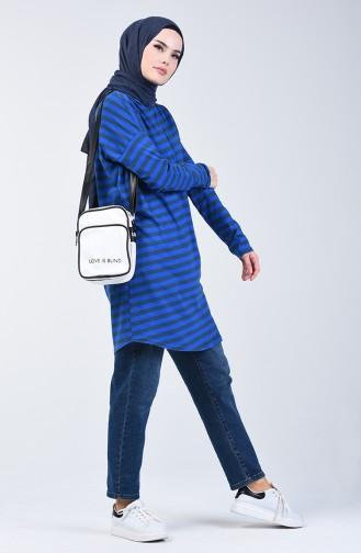 Striped Tunic 1287-03 Saxe Blue 1287-03