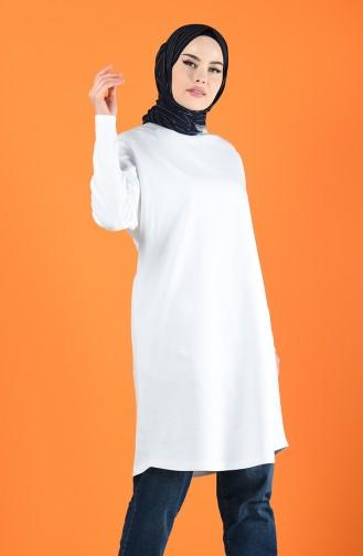 Yarasa Kol Tunik 8027A-01 Beyaz