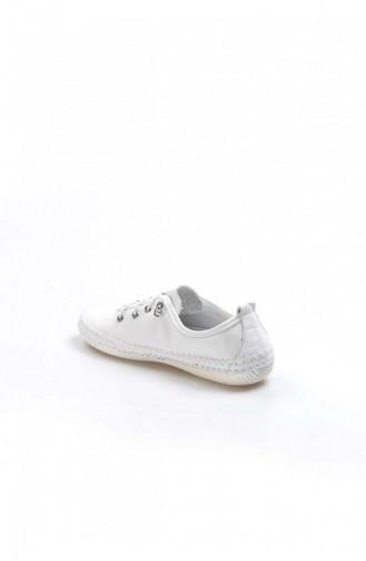 Fast Step Real Leather White Espadrille Shoes 629Za508654 629ZA508-654-16777215