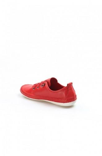 Fast Step Günlük Ayakkabı Hakiki Deri Kırmızı Espadril Ayakkabı 629Za508654
