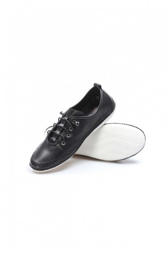 Fast Step Real Leather Black Espadrille Shoes 629Za508654 629ZA508-654-16777229