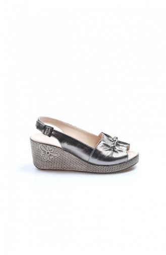 Fast Step Real Leather Slippers 120 Platinum Filled Heel Slippers 407Za366 407ZA366-16782434