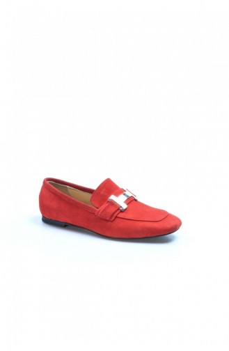 Fast Step High Heels Real Leather Red Suede Thick Heels 064Za789 064ZA789-16777556