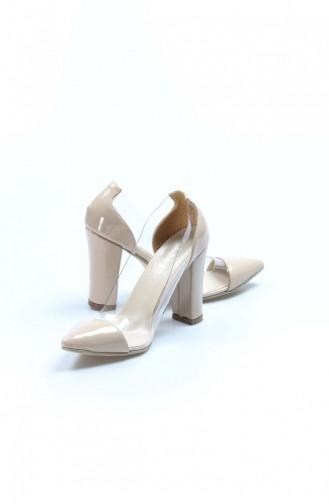Fast Step Topuklu Ayakkabı Ten Rugan Yüksek Topuk Ayakkabı 629Za4042122