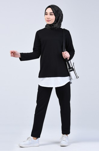 Two-thread Tunic Trousers Double Suit 2002-03 Black 2002-03