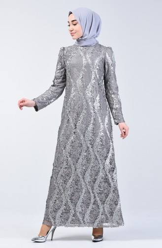 Habillé Hijab Gris 7264-02