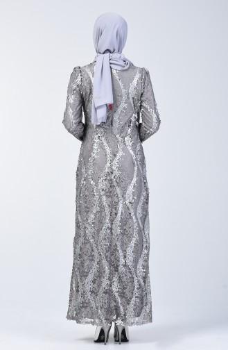 Grau Hijab-Abendkleider 7264-02