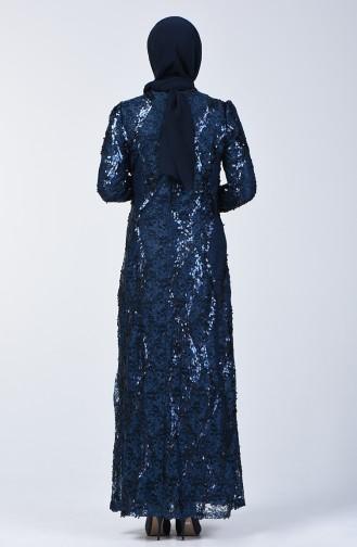 Dunkelblau Hijab-Abendkleider 7264-06