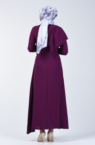 Robe Hijab Pourpre 0046-01