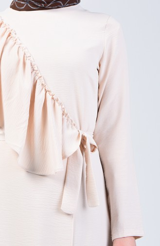 Aeroben Fabric Frilly Dress 0046-02 Beige 0046-02