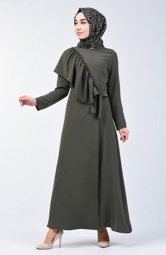 Khaki İslamitische Jurk 0046-03