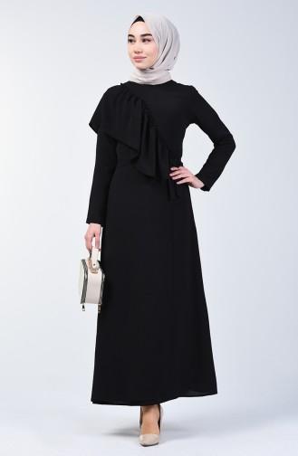 Aeroben Fabric Frilly Dress 0046-07 Black 0046-07