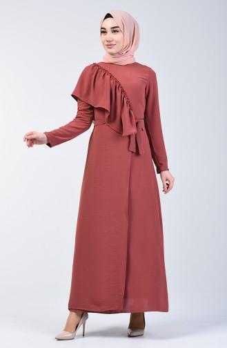 Dark Dusty Rose İslamitische Jurk 0046-08