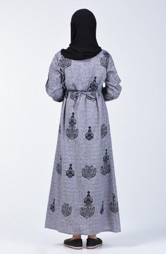 Gray İslamitische Jurk 3333-03