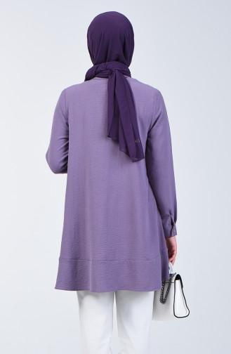 Aerobin Fabric Tunic with Buttons 1426-03 Purple 1426-03