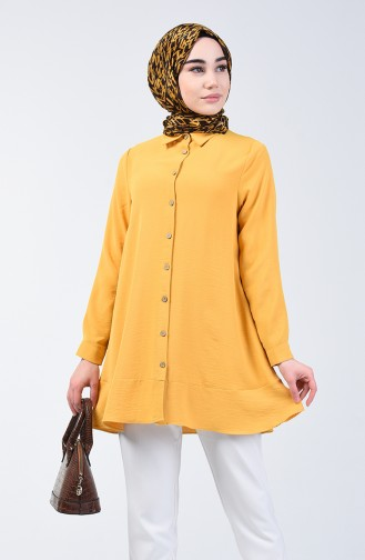 Aeroben Fabric Button Tunic 1426-08 Mustard 1426-08