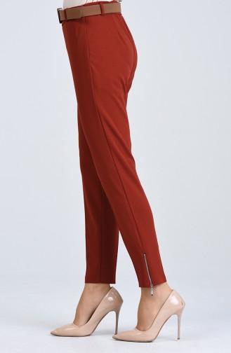Pantalon Avec Ceinture 20K1001103-04 Brique 20K1001103-04